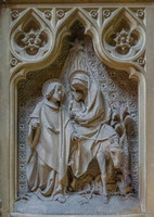 The flight into Egypt, studio of Alois de Beule, Ghent, 1893 - St Joseph's Chapel, St Augustine's, Ramsgate
