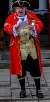 Tewkesbury's Town Crier - in full cry