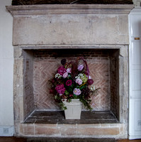 Tudor fireplace in the Henry Room, Church House, Gloucester
