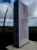 Approaching Zamora, a stone tablet inscribed with a poem by Alfonso Ramos de Castro, one of three dedicated to peace and understanding between Christians, Jews and Muslims