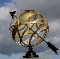 Armillary sundial, Claverton Manor, Bath