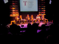 The Times Leader Conference, 4th October: from left, David Aaronovitch, Alice Thomson, Phil Collins, Emma Tucker, Danny Finkelstein, Hugo Rifkind