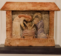 Nativity sculpture by Eric Gill, 1920, The Wilson, Cheltenham