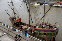 Late 20th Century replica of John Cabot's late 15th Century caravel, The Matthew: Bristol Harbour