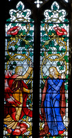 The Annunciation: part of the Fruit of the Mystic Rose window, by Hugh Easton (1937-8) in Cirencester Parish Church