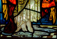 Detail from The Annunciation, St James, Cranham (James Powell & Sons, c1900)
