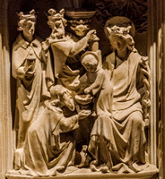 Adoration of the Magi, George Myers' workshop, the Lady Chapel, St Augustine's, Ramsgate