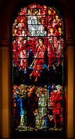 The Last Judgement window in the baptistry of St Philip's Cathedral: designed by Edward Burne-Jones in 1891