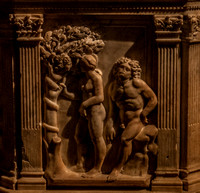 The temptation of Eve - on the baptismal font, Siena Cathedral (Antonio Federighi, late 15th Century)
