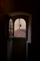 Looking out of one of the 44 cells in San Marco's Dormitorio, Florence