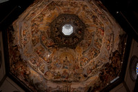"""The last judgement"" by Vasari - painted 1572-9 - in the interior of Brunelleschi's dome, completed 1436, the Duomo, Florence"