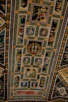 Ceiling of the Piccolomini Library, Siena Cathedral, painted 1502-3 by Pinturicchio and his assistants