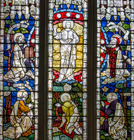 The Transfiguration (glass by Clayton and Bell), St Mary's, St Neots, Huntingdonshire