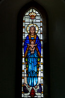 East window, St Mary's, Syde, by J.A. Crombie