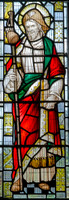 St James, stained glass, c1931, St Lawrence, Bourton-on-the-Water
