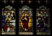 The risen Christ appears to the Apostles (Kempe window at St Alphege, Solihull)