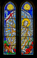 Patrick Reyntiens' stained glass: Memorial Chapel, Ampleforth Abbey