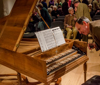 Harpsichord by Huw Saunders (made 2013) at Syde Barn