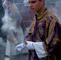 In the procession of the Hermandad de Monte-Sión, Maundy Thursday, Seville