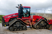 Not wheels, but... A CaseIH Steiger 485QT Quadtrac GPS-guided tractor, Stowell Park, Gloucestershire