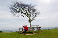 The photographer photogaphed (on Cleeve Common, Gloucestershire)