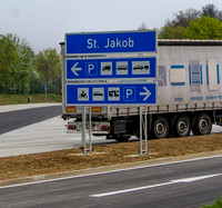 Motorway pull-in near Nerensetten, located near a former chapel of St James