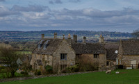 Harcombe House, Chastleton, Oxfordshire (with Batsford House in the distance)