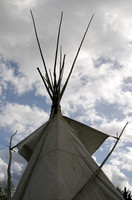 Reproduction of a Cheyenne Indian tepee, Claverton Manor, Bath