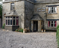 Miserden's pub (The Carpenter's Arms normally) during BBC TV's filming of Laurie Lee's Cider with Rosie