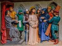 The First Station: Jesus is condemned to death - studio of Alois de Beule, Ghent, 1893 (repainted c1960) - St Augustine's, Ramsgate