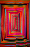 Striped City Quilt, 2011 by Kaffe Fassett, in his 2014 exhbition at Claverton Manor, Bath