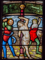 The flagellation of Christ, Auch Cathedral (the work of Arnaud de Moles - between 1507 and 1513)