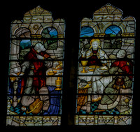 Christ at Emmaus (Kempe window at St Alphege, Solihull)