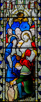 The miracle of Cana: glass by Lavers, Barraud and Westlake, St Giles, Coberley, Gloucestershire