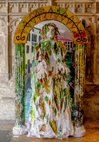 Green Man in Venice, made by Joseph Jennings - on show at Art for Carers 2015, Gloucester Cathedral Cloisters