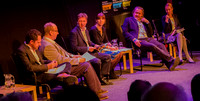 The Times Leader Conference, 6th October: from left, Hugo Rifkind, Danny Finkelstein, Phil Collins, Emma Tucker, Robert Crampton, Deborah Haynes